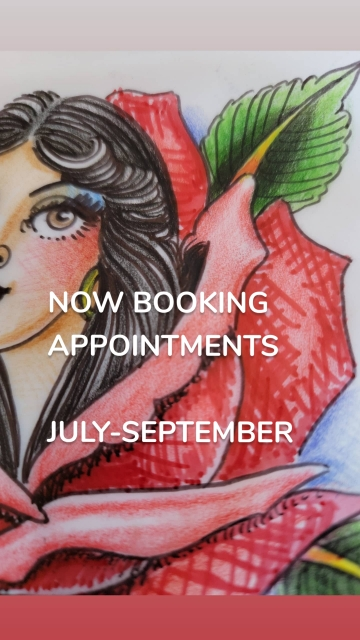NOW BOOKING APPOINTMENTS JULY-SEPTEMBER